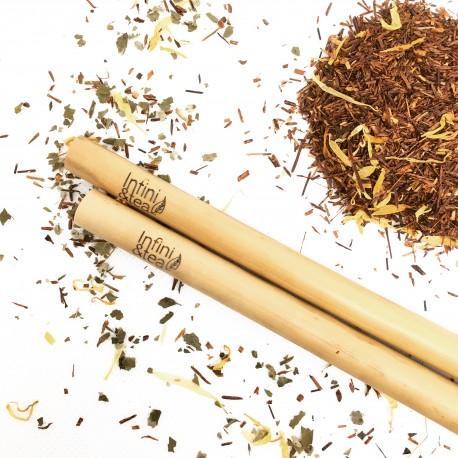 Pailles en Bambou gravées