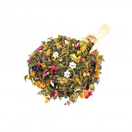 Thé vert pêche nectarine
