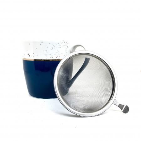 Tisanière Bleu & Dorée